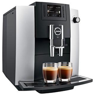 Jura E6 Platino Macchina Caffè Automatica 7 Funz Microschiuma Display Colori