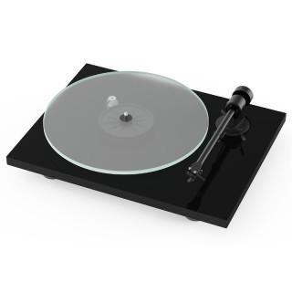 Pro-Ject T1 Piano Black Giradischi 33/45 giri Testina Ortofon OM5E Braccio Alluminio