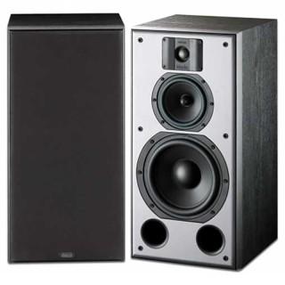 Indiana Line DJ 308 Frassino Nero Coppia Casse Scaffale 30-140W 3 vie Bass Reflex