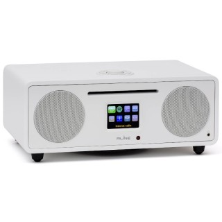 RLine Play S3 Bianco Hi-Fi All in One DAB FM CD Bluetooth Wi-Fi DLNA USB Line IN-OUT 30W