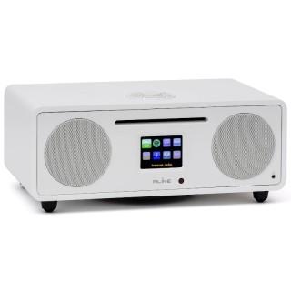 RLine Play S3 Bianco Hi-Fi All in One DAB FM CD Bluetooth Wi-Fi DLNA USB Line IN-OUT 30W