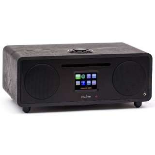 RLine Play S3 Nero Hi-Fi All in One DAB FM CD Bluetooth Wi-Fi DLNA USB Line IN-OUT 30W