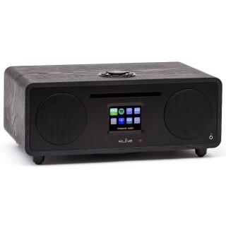RLine Play S3 Nero Hi-Fi All in One DAB FM CD Bluetooth Wi-Fi DLNA USB Line IN-OUT 30W