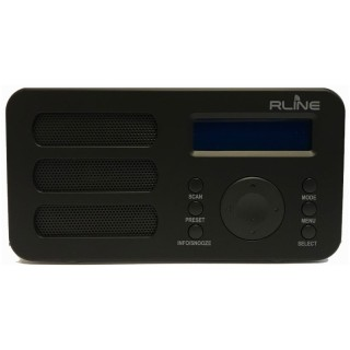 RLine SounDAB Metal Nero Radio DAB FM Line IN Sveglia Display Ricaricabile