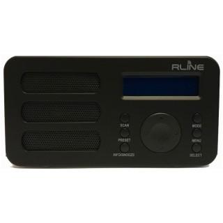 RLine SounDAB Metal Nero Radio DAB FM Line IN Sveglia Display Ricaricabile