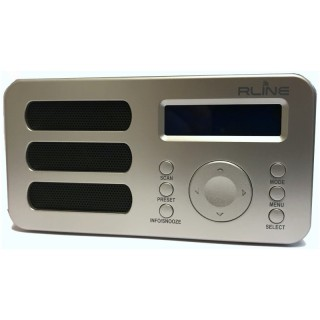 RLine SounDAB Metal Silver Radio DAB FM Line IN Sveglia Display Ricaricabile