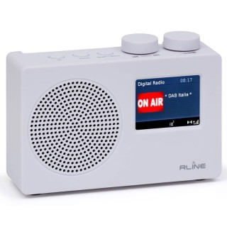RLine SounDAB One Bianco Radio DAB FM Line IN Sveglia Display 2,4'