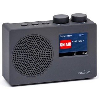 RLine SounDAB One Grigio Radio DAB FM Line IN Sveglia Display 2,4'