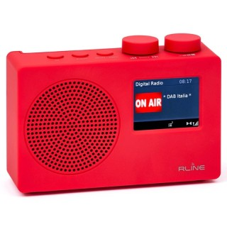RLine SounDAB One Rosso Radio DAB FM Line IN Sveglia Display 2,4'