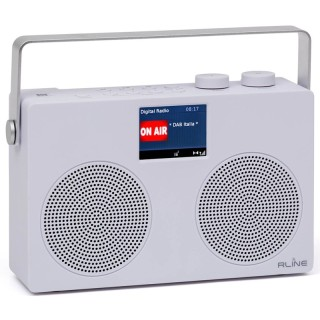 RLine SounDAB Two Bianco Radio Stereo DAB FM Bluetooth Line IN Display 2,8'