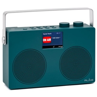 RLine SounDAB Two Blu Petrolio Radio Stereo DAB FM Bluetooth Line IN Display 2,8'