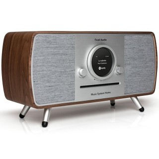 Tivoli Music System Home Walnut Hi-Fi All in One Radio DAB FM CD Bluetooth Wi-Fi App Tivoli Art