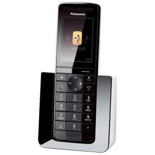 Panasonic KX-PRS110JTW Nero-Bianco Telefono Cordless DECT VivaVoce Display a Colori 2,2'