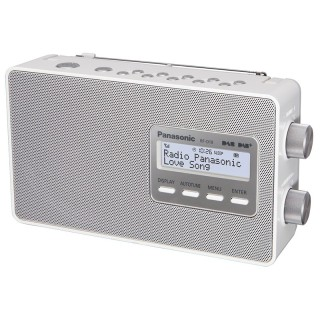Panasonic RF-D10 White Radio DAB/DAB+ FM-RDS Speaker 10cm Sleep Batteria Corrente