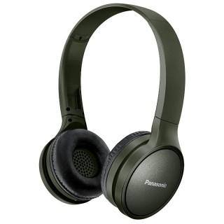 Panasonic RP-HF410BE-G Military Green Cuffia Padiglione Bluetooth Autonomia 24h Comandi Vocali Telefono