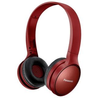 Panasonic RP-HF410BE-R Red Cuffia Padiglione Bluetooth Autonomia 24h Comandi Vocali Telefono
