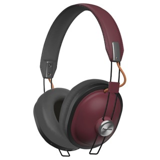 Panasonic RP-HTX80BE-R Rosso Cuffie Padiglione Bluetooth NFC Microfono Autonomia 24h