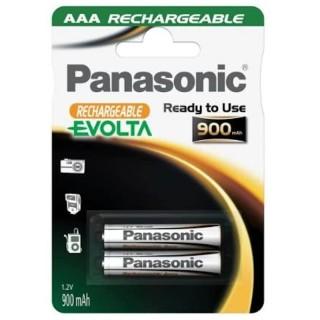 Panasonic HHR-4XXE/2BC AAA 1,2V Batteria MiniStilo Ricaricabile NiMh 900mAh Blister 2pile