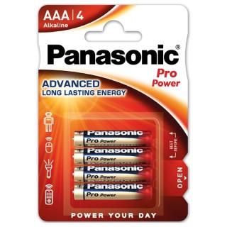 Panasonic LR03PPG/4BP AAA 1,5V Batteria MiniStilo Alcalina Pro Power Blister 4pile