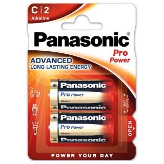 Panasonic LR14PPG/2BP C 1,5V Batteria Mezza Torcia Alcalina Pro Power Blister 2pile