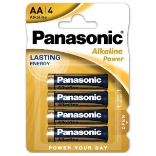 Panasonic LR6APB/4BP AA 1,5V Batteria Stilo Alcalina Power Blister 4pile