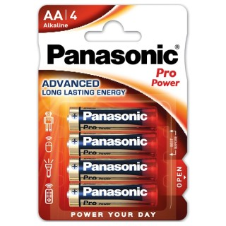 Panasonic LR6PPG/4BP AA 1,5V Batteria Stilo Alcalina Pro Power Blister 4pile