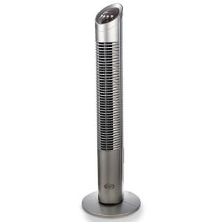 Argo Aspire Tower Silver Ventilatore a Torre Rotazione 80° Timer Telecomando