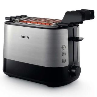 Philips HD2639/90 Inox Tostapane 1000W Scongelamento Riscaldamento Cassetto Briciole