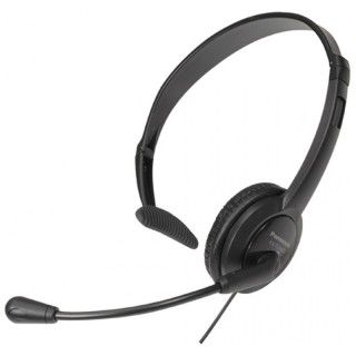 Panasonic RP-TCA400E-K Cuffia Archetto con Microfono per Telefoni Cordless Jack 2,5 mm