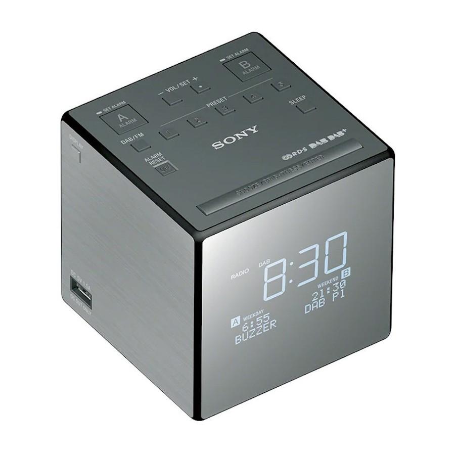 Sony XDR-C1DBP Radiosveglia DAB/DAB+ FM RDS USB per Carica Telefono Snooze Sleep