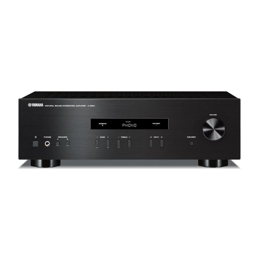 Yamaha A-S201 Black Amplificatore Integrato 115W x2 Ingresso Phono