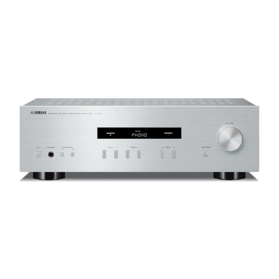 Yamaha A-S201 Silver Amplificatore Integrato 115W x2 Ingresso Phono