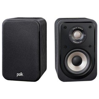 Polk Audio S10e Washed Black Walnut Coppia Casse Scaffale 100W 2vie Power Port
