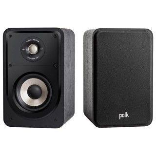 Polk Audio S15e Washed Black Walnut Coppia Casse Scaffale 125W 2vie Power Port