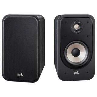Polk Audio S20e Washed Black Walnut Coppia Casse Scaffale 125W 2vie Power Port