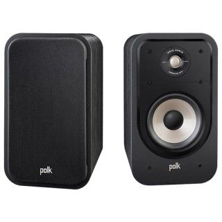Polk Audio S20e Washed Black Walnut Coppia Casse Scaffale 125W 2vie Power Port