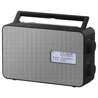 Panasonic RF-D30BTEG-K Black Radio DAB/DAB+/FM Bluetooth Speaker 10cm Timer Batteria Corrente