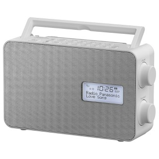 Panasonic RF-D30BTEG-W White Radio DAB/DAB+/FM Bluetooth Speaker 10cm Timer Batteria Corrente