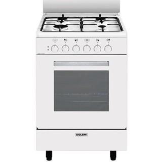 GlemGas A554MX6 Bianco Cucina L.53 x P.50 Forno Elettrico Multifunzioni Ventilato 6 funzioni