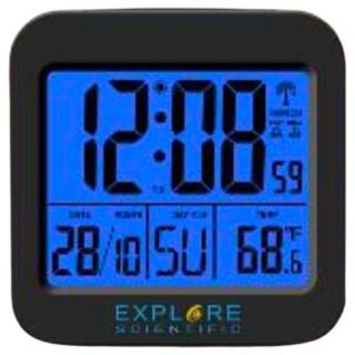 ExploreScientific RDC1008 Orologio Radiocontrollato Doppio Allarme Sveglia Temperatura