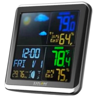 ExploreScientific WSH4008C Stazione Meteo Display a Colori Temperatura e Umidità In/Out