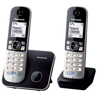 Panasonic KX-TG6812JTB Black Telefono Cordless Dect Twin VivaVoce Display1.8' Rubrica 120