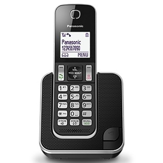 Panasonic KX-TGD310JTB Black Telefono Cordless DECT-GAP Viva voce Display 1.8'
