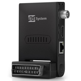 TeleSystem TS6807 Stealth Decoder Digitale Terrestre Zapper HD DVB-T2 HEVC HDMI Scart