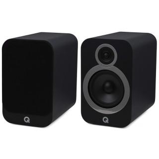 Q Acoustics 3030i Carbon Black Coppia Casse Scaffale 75W 2vie T2,2 W16,5 BassReflex