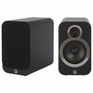 Q Acoustics 3020i Carbon Black Coppia Casse Scaffale 75W 2vie T2,2 W12,5 BassReflex