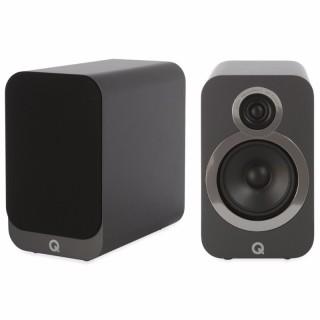 Q Acoustics 3020i Graphite Grey Coppia Casse Scaffale 75W 2vie T2,2 W12,5 BassReflex