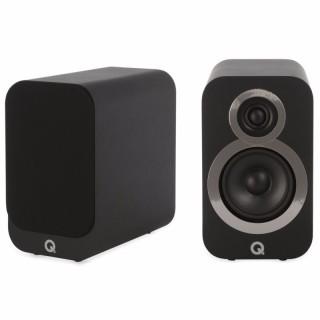 Q Acoustics 3010i Carbon Black Coppia Casse Scaffale 75W 2vie T2,2 W10 BassReflex