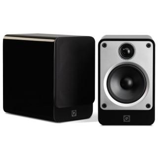 Q Acoustics Concept 20 Black HighGloss Coppia Casse Scaffale 75W 2vie T2,2 W12,5 BassReflex