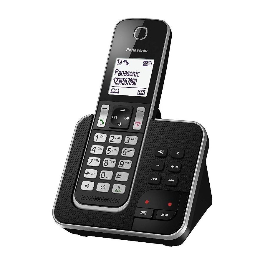 Panasonic KX-TGD320JTB Black Telefono Cordless DECT VivaVoce Segreteria Telefonica